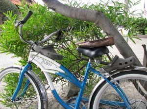 Crocs on my Beach Cruiser