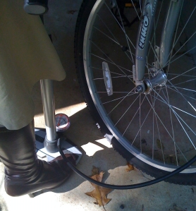 Boots on my Air Pump